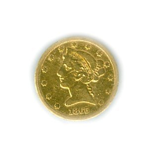 *1865-S $5 U.S Liberty Gold Coin - Investment