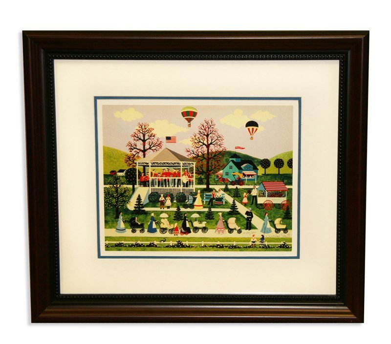 Jane Wooster Scott - Framed - '' Nanny's on Parade ''