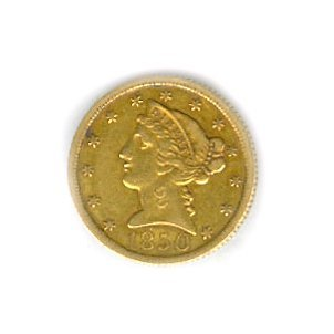 *1850 U.S. $5 Liberty Gold Coin
