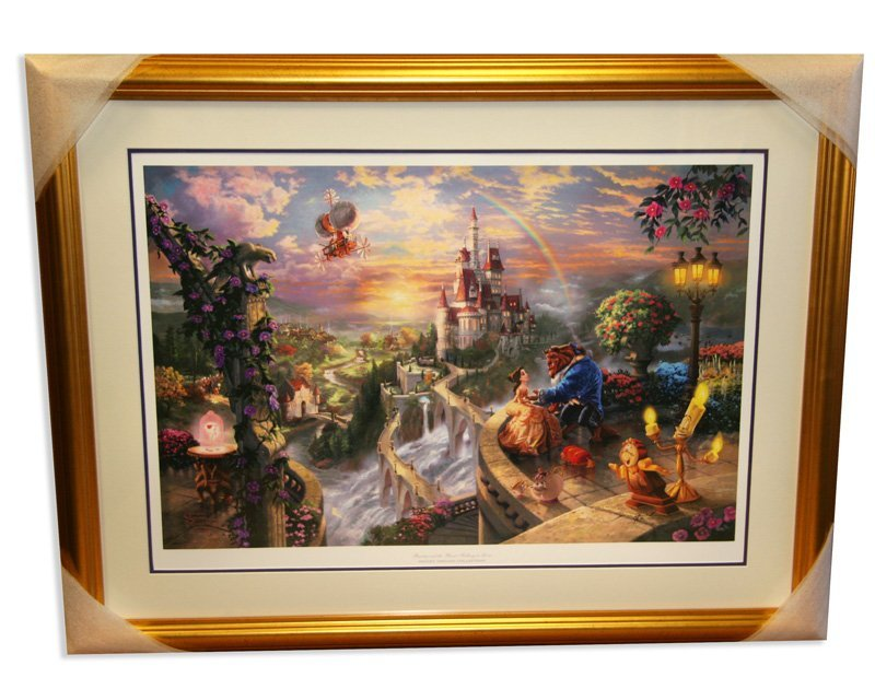 Kinkade - Framed Lithograph - ''Beauty & the Beast''
