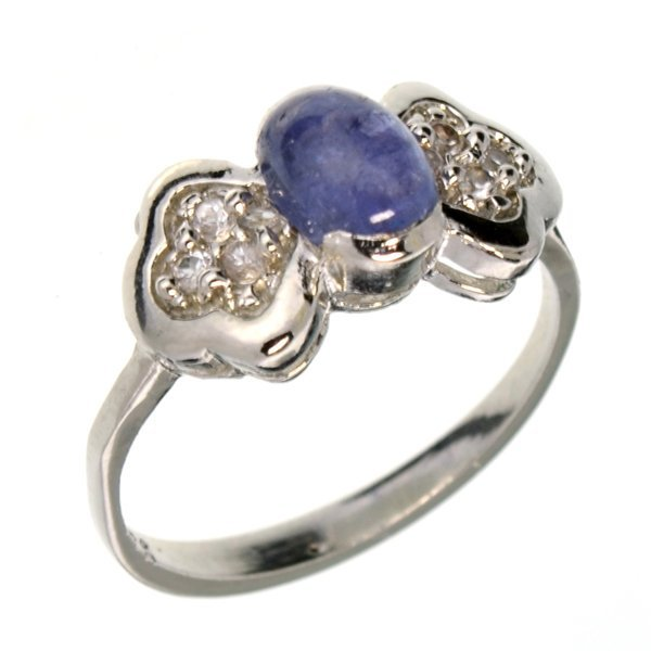 APP: 1k 1CT  Tanzanite & Topaz Sterl Silver Ring