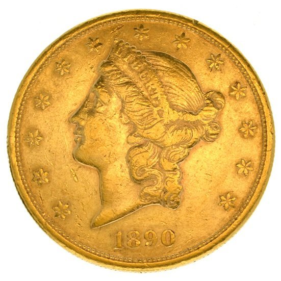 *1890-S $20 U.S. Liberty Head Gold Coin - Investment