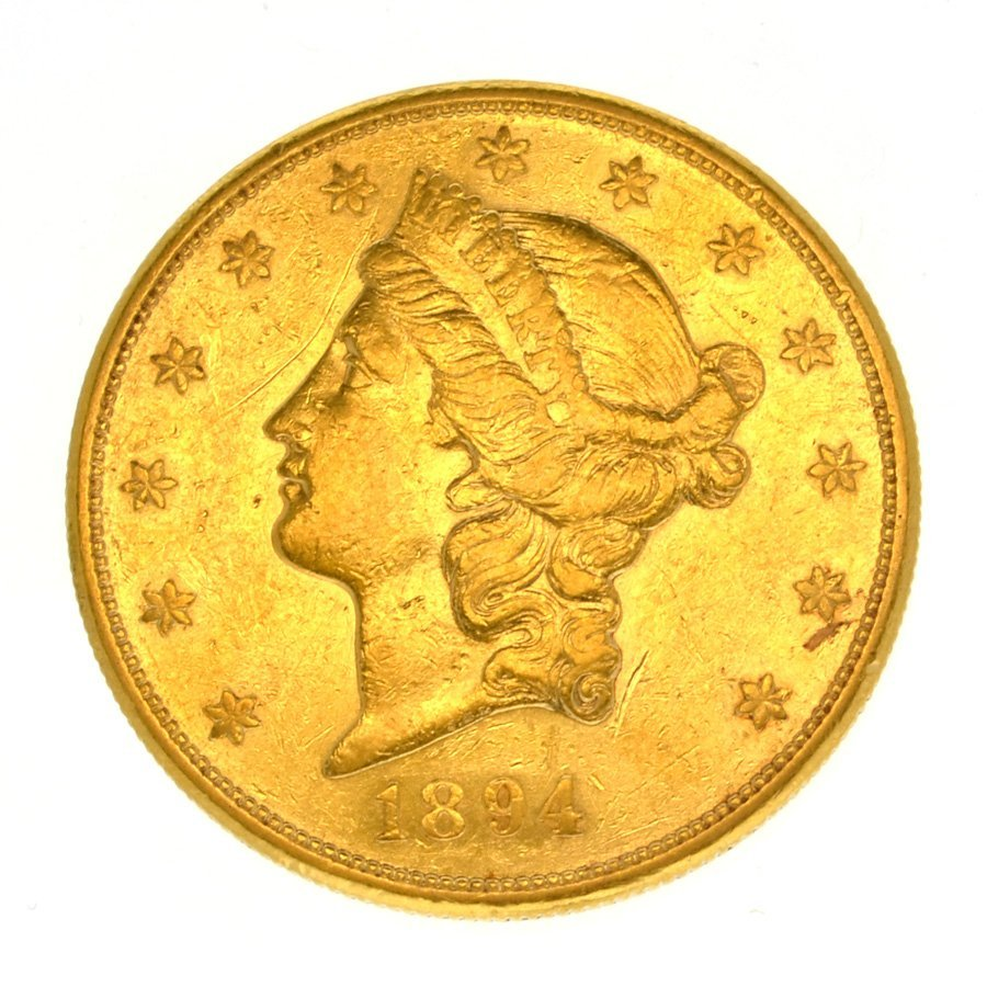 *1894-S $20 U.S. Liberty Head Gold Coin - Investment