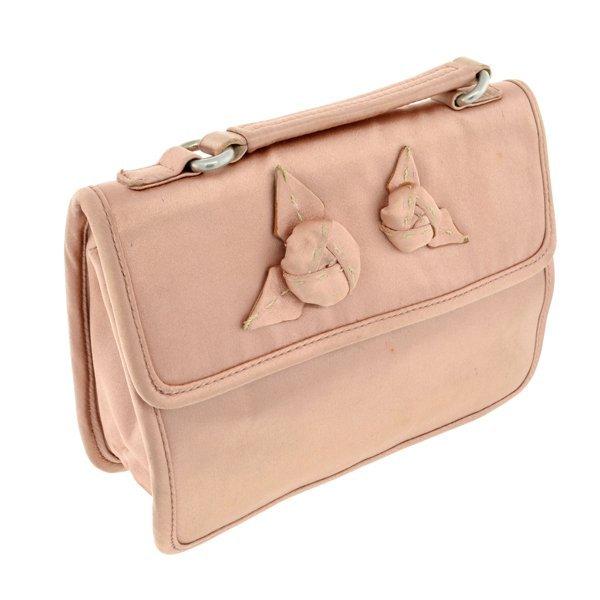 Prada Dasty Pink Satin Silk Clutch Bag G-Card