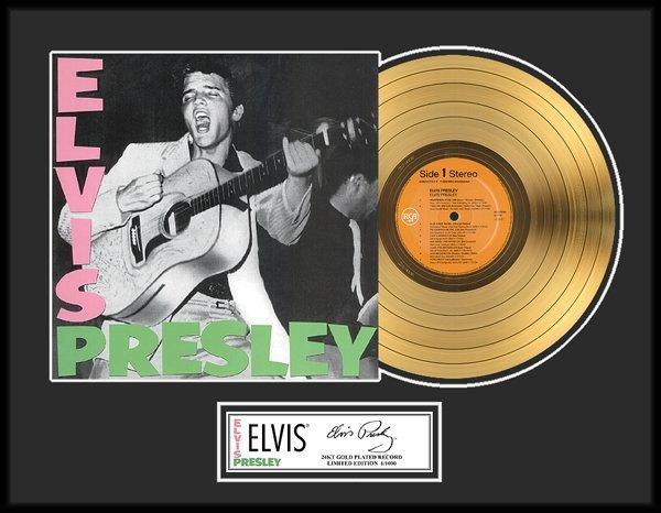 """ELVIS PRESLEY """"Elvis Presley"""" Gold LP-Limited Edition"""