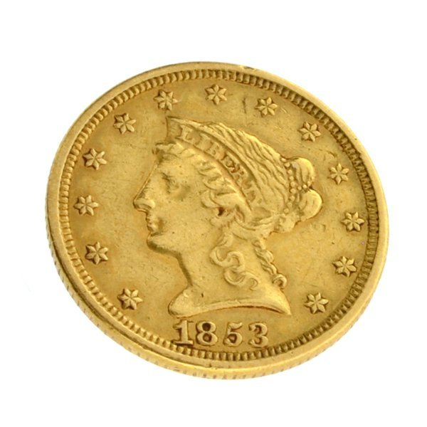 1853 $2.50 U.S. Liberty Head Gold Coin - Investment
