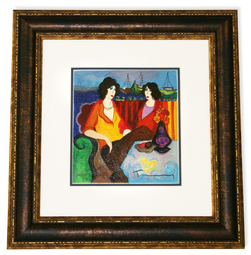 Tarkay- Framed Lithograph-Signed ''At the Port''