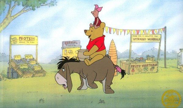 Disney Cel, Winnie The Pooh w/Certificate