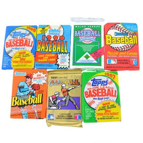 Lot Of 100 Old Vintage Baseball Cards In Wax Rack Packs