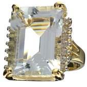 APP 29k 14kt Gold 22CT Aquamarine  Topaz Ring