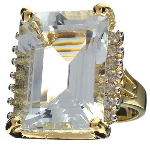 APP: 29k 14kt Gold, 22CT Aquamarine & Topaz Ring