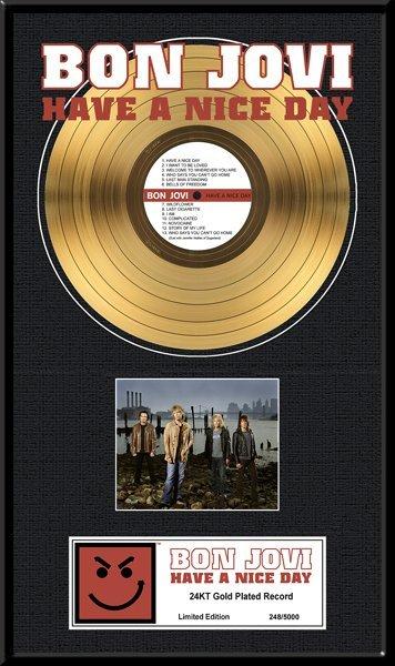 BON JOVI ''Have  a Nice Day'' Gold LP