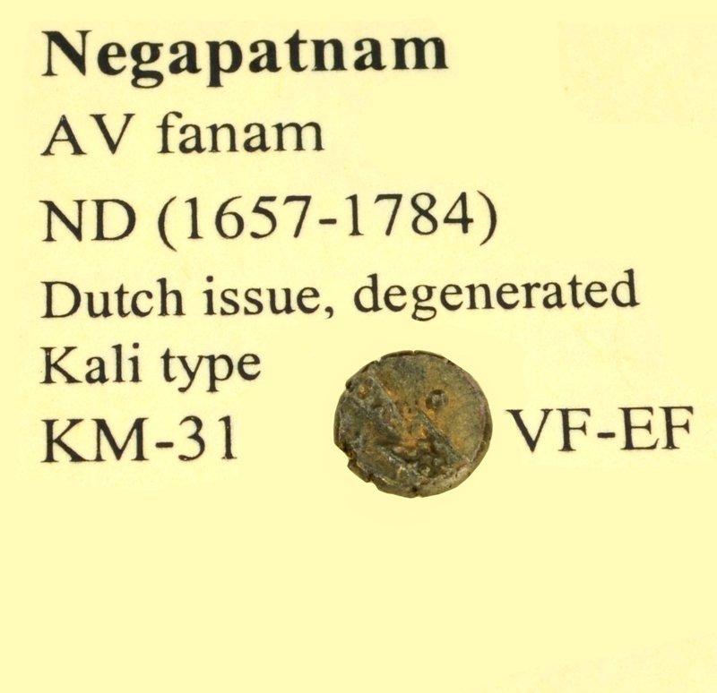Extremely Rare 1657-1784 AV Fanam ND Gold Coin