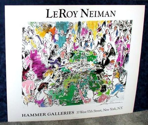 Hand Signed LeRoy Neiman: Game of Life