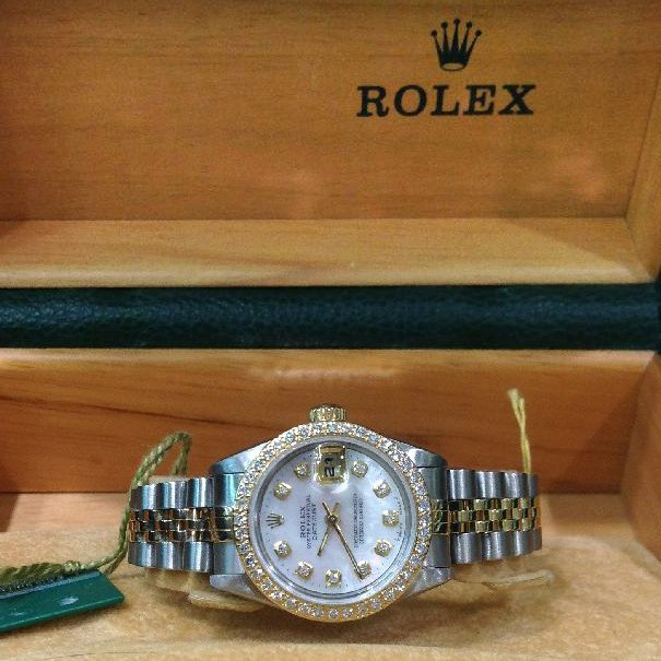 Rolex 2T Datejust With Papers M#691173 1995 26mm Ladies