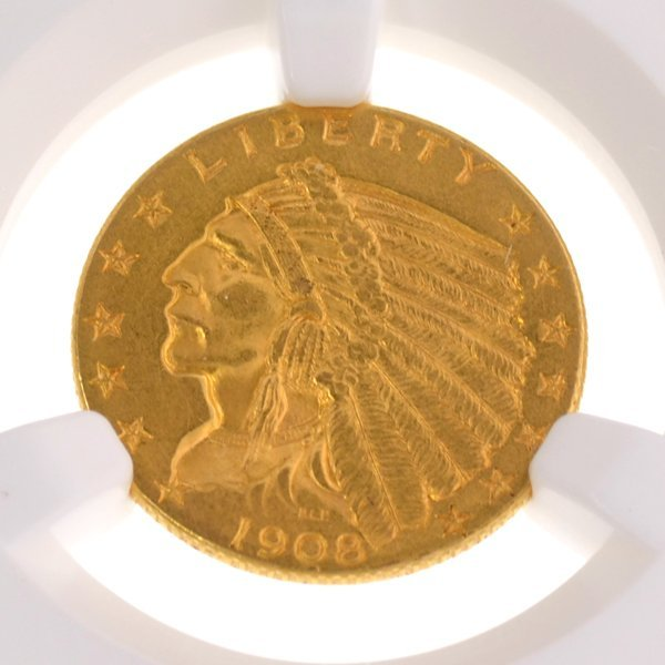 *1908 $2.50 U.S Indian Head Type Gold Coin - Investment
