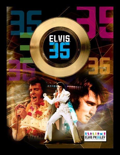 "ELVIS PRESLEY ""35th Anniversary"" Gold 45RPM"