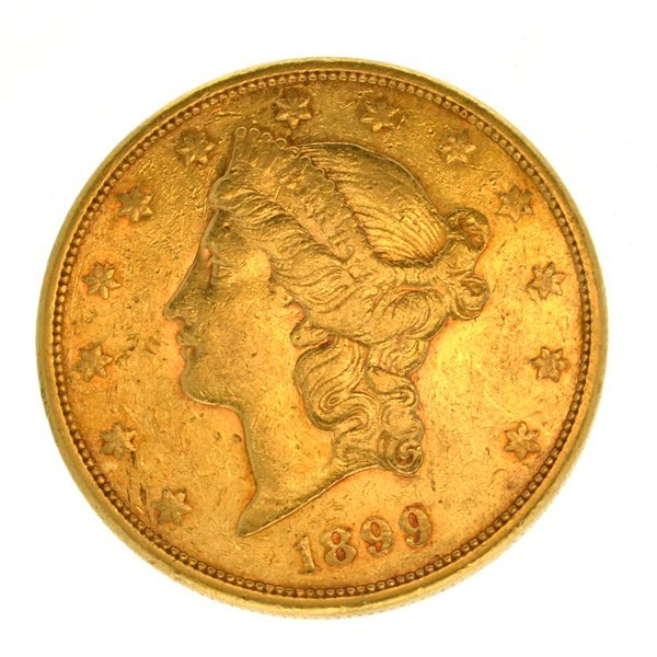 *1899-S $20 U.S. Liberty Head Gold Coin - Investment