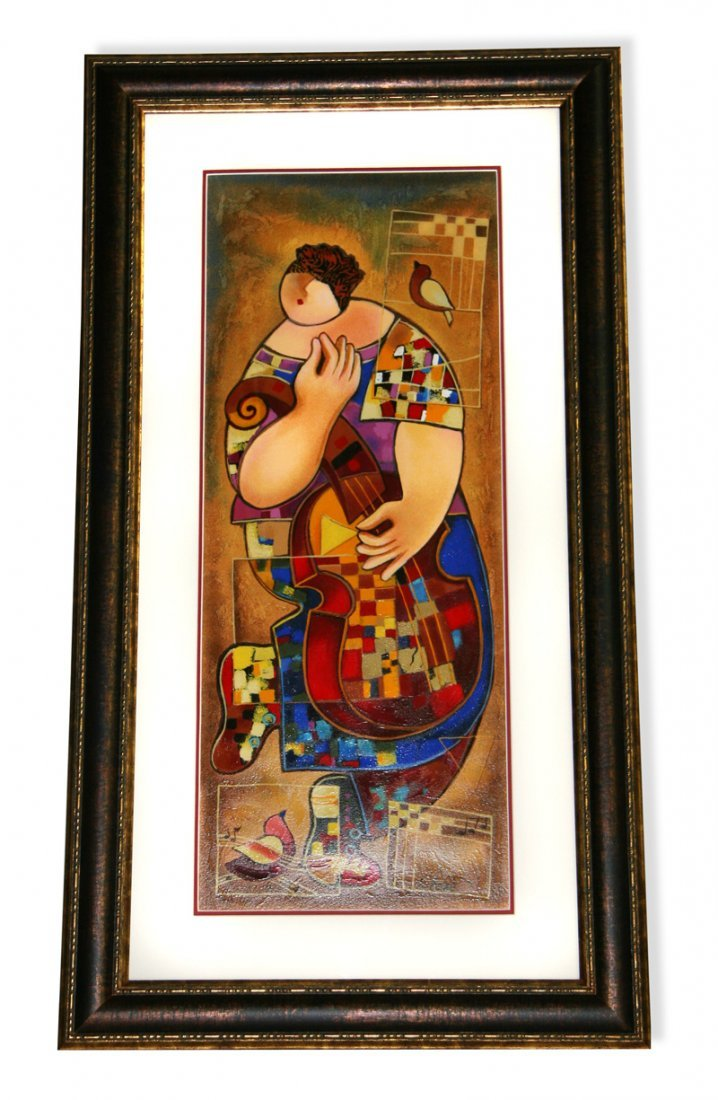 Doty Levy- Framed Lithograph-Signature ''The Dancer''