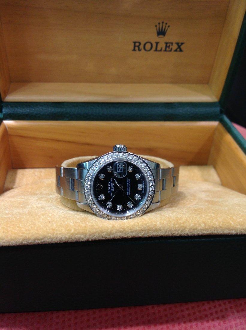 Rolex SS Date Oyster Diamond Bezel M#79160 26mm Ladies