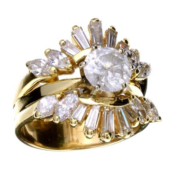 APP: 18.8k *14 kt. Gold, 2.50CT Diamond Ring