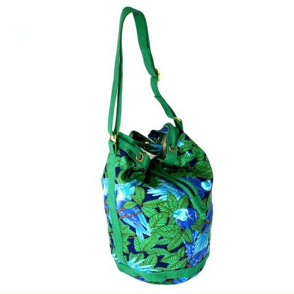 Authentic Hermes Bird Pattern Printed Shoulder Bag