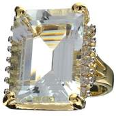APP 29k 14kt WtYellow Gold 22CT Aquamarine  Topaz