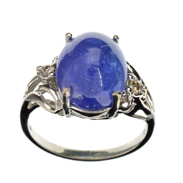 APP: 13k 14kt White Gold, 7 CT Oval Cut Tanzanite Ring