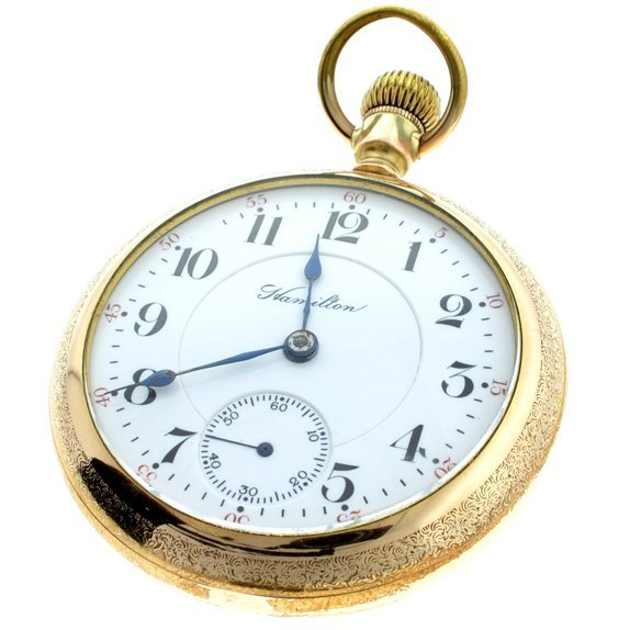 Rare Hamilton 21 Jewel Rail Road 942 18's Pocket Watch
