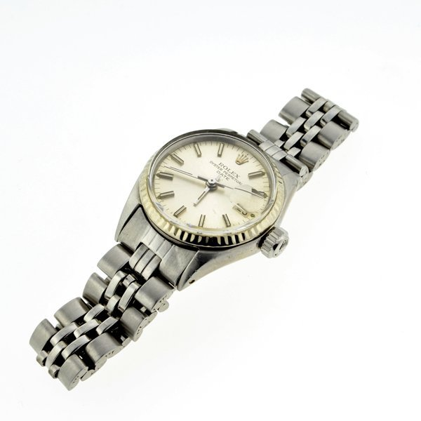 ^Vintage Rolex 6516 Stainless Wrist Ladies Watch