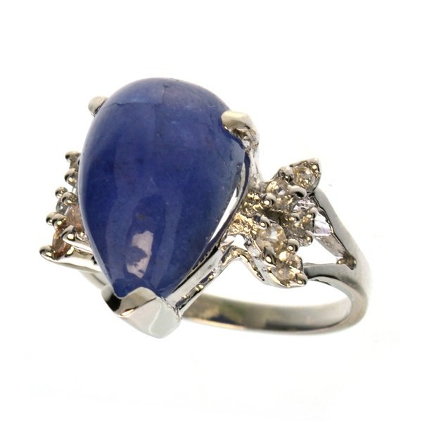 APP: 5k 9CT  Tanzanite & Topaz Sterl Silver Ring