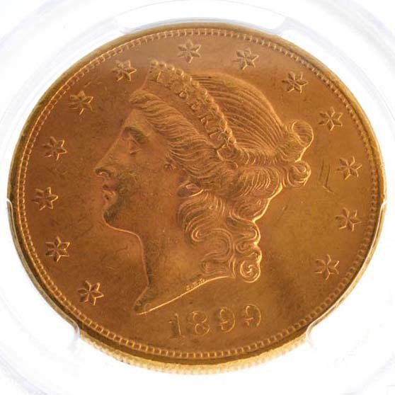 *1899 $20 U.S Liberty Head Gold Coin - Investment