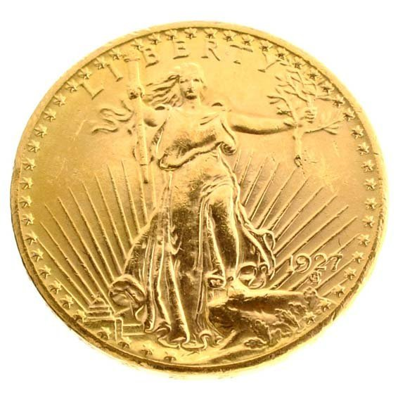 *1927 $20 U.S Saint-Gaudens Gold Coin - Investment