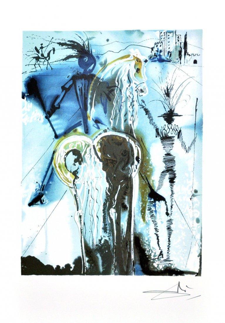 SALVADOR DALI Don Quiochette Print, Limited Edition