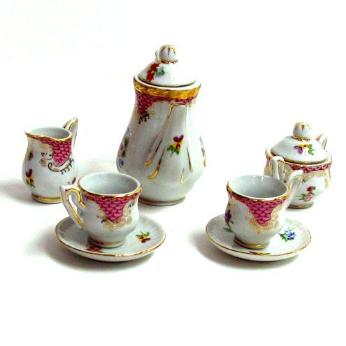 Pink Floral Mini Tea Set 10pc.