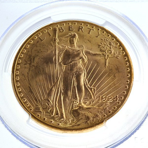 *1924 $20 Saint Gaudens Gold Coin - Investment