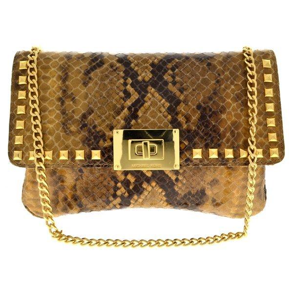 Michael Kors Sloan Leather Stud Clutch/Shoulder Bag