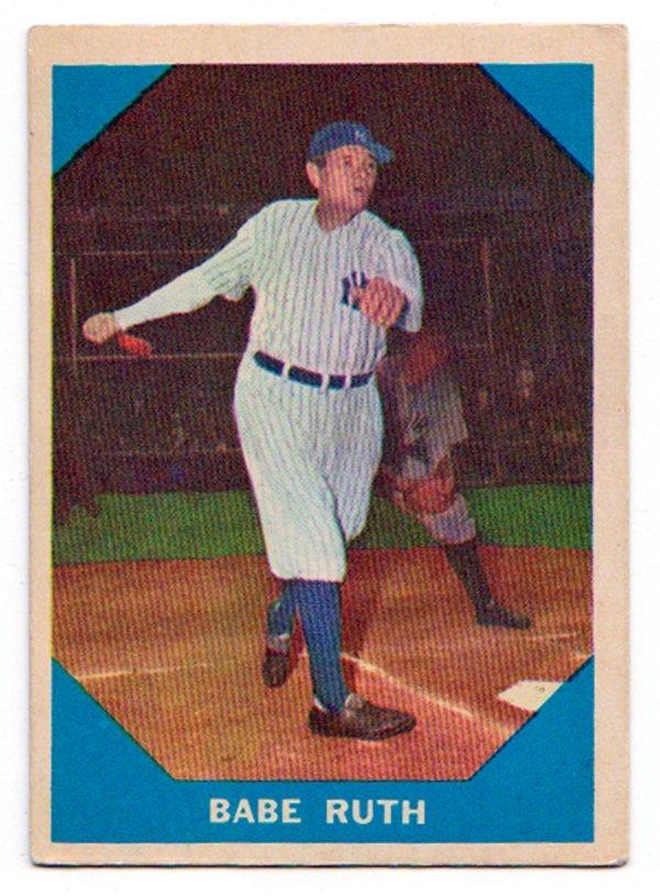Mint Condition 1960 Fleer Babe Ruth NY #3 Baseball Card