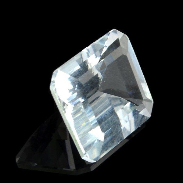 APP: 2k 4 CT Emerald Cut Light Blue Aquamarine Gemstone
