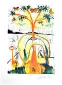 SALVADOR DALI A Mad Tea Party Print Limited Edition