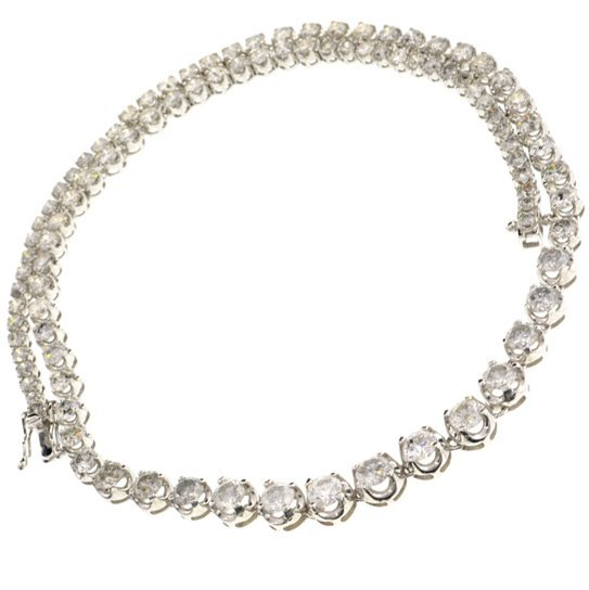 APP: 45k *14kt White Gold, 14CT Round Diamond Necklace