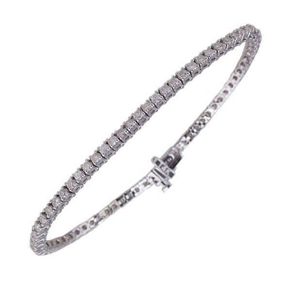 APP: 11k *14kt White Gold, 2 CT Diamond Tennis Bracelet