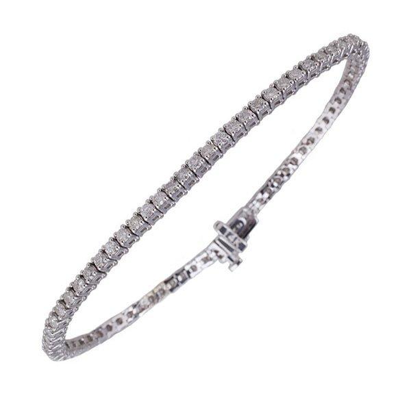 APP: 11k *14kt White Gold, 2 CT Diamond Tennis Bracelet