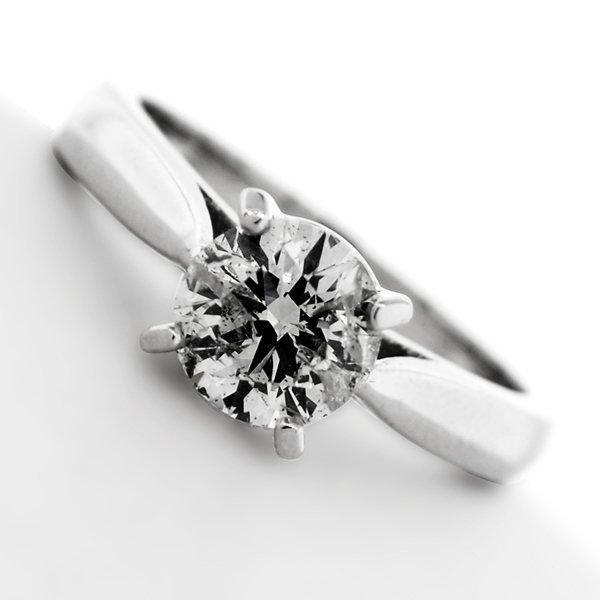APP: 7k *14kt White Gold, 1 CT Round Cut Diamond Ring