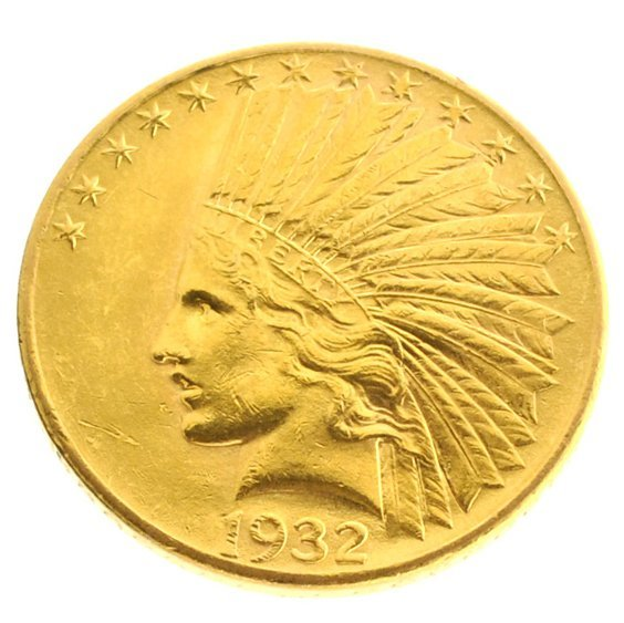 *1932 $10 U.S Indian Head Gold Coin - Investment