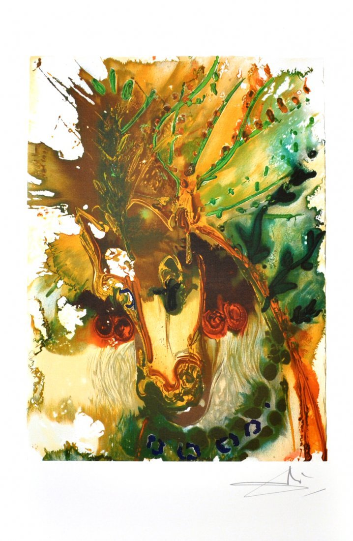 SALVADOR DALI Bucephale Print, Limited Edition