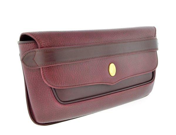 Authentic Cartier Bordeaux Classic CC Handbag Pre-Owned