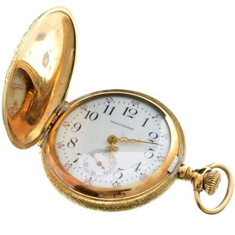^1902 Waltham 25 Year Gold Filled Ornate Pocket Watch