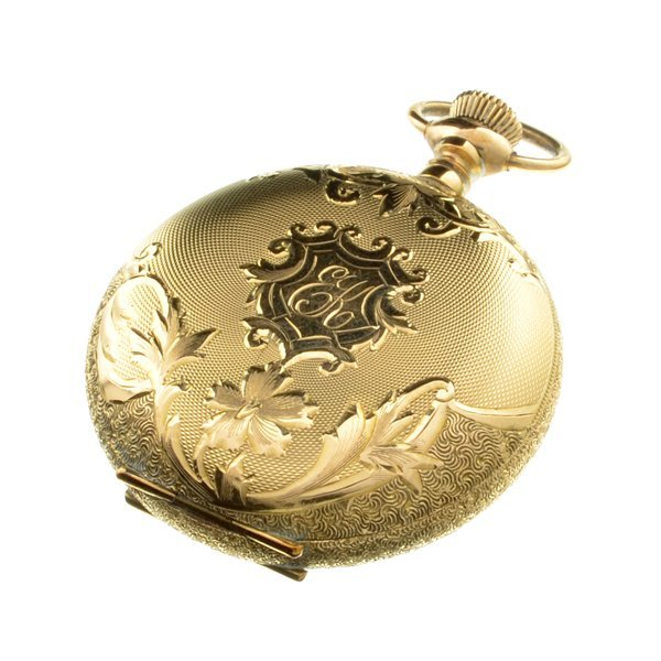 ^1902 Waltham 25 Year Gold Filled Ornate Pocket Watch - 2
