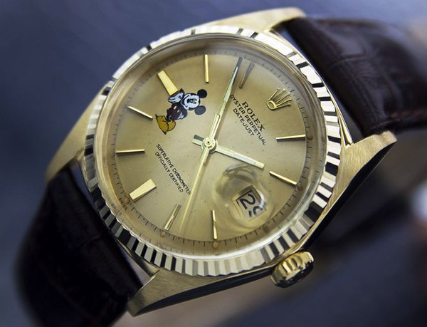 Men's 18k Solid Gold Rolex Oyster Mickey Dial (4072)